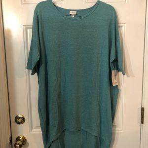 LuLaRoe Irma Shirt NWT teal